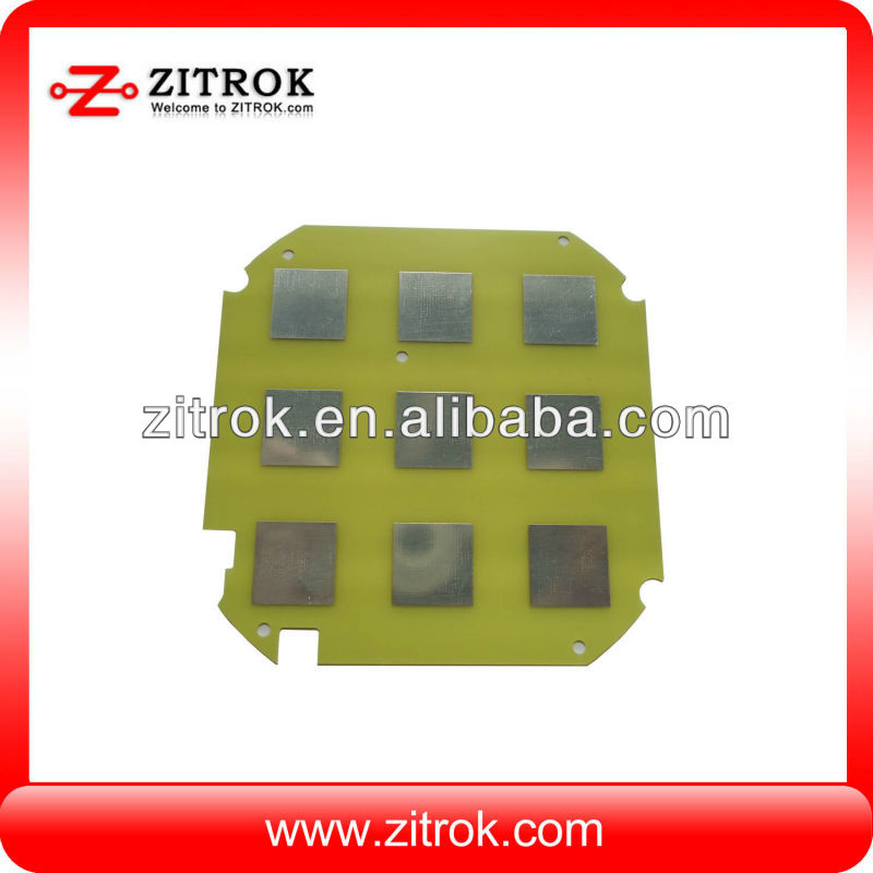 Double sides aluminum base metal core pcb with HASL