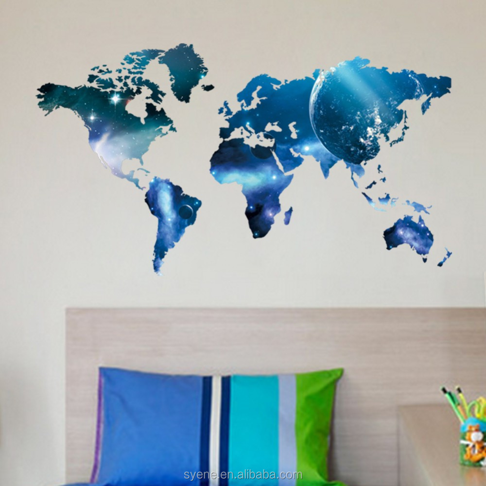 New custom large vintage world map wall stickers decal home new custom large vintage world map wall stickers decal home decoration antique poster wall chart retro gumiabroncs Images