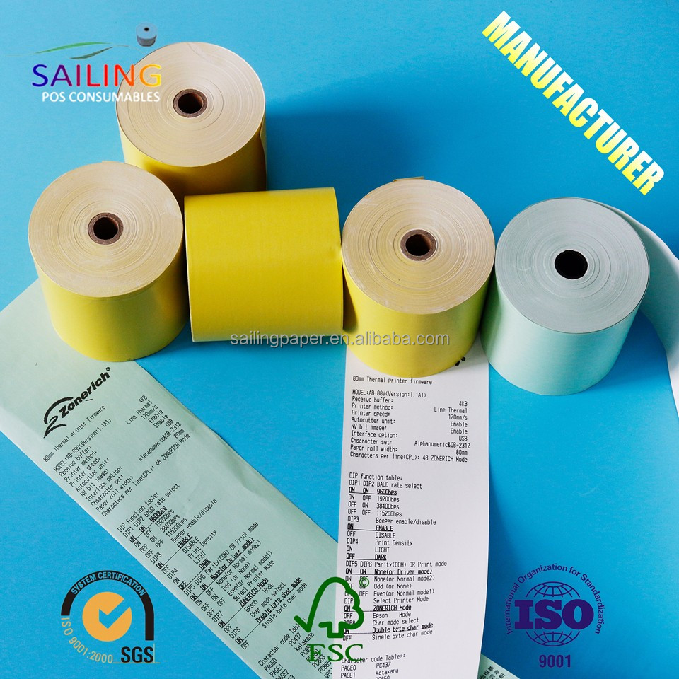 BPA free 57mm POS paper rolls 58mm thermal paper rolls