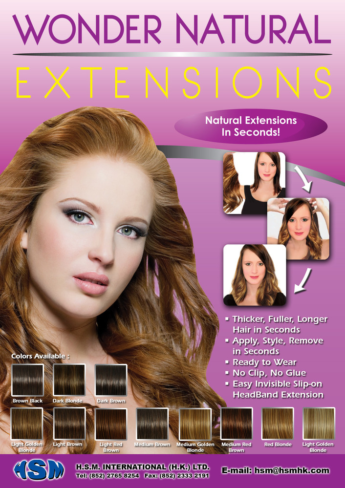 Wonder Hair Natural Extensions With Invisible Head Band Buy Hair