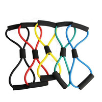 Chest Expander Resistance Band For Gym Exercises With Natural Latex TPR Tube