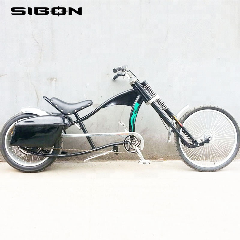SIBON 48V 500W lithium battery disc brake rear brushless motor fat tire black chopper <strong>bike</strong> electric for adults