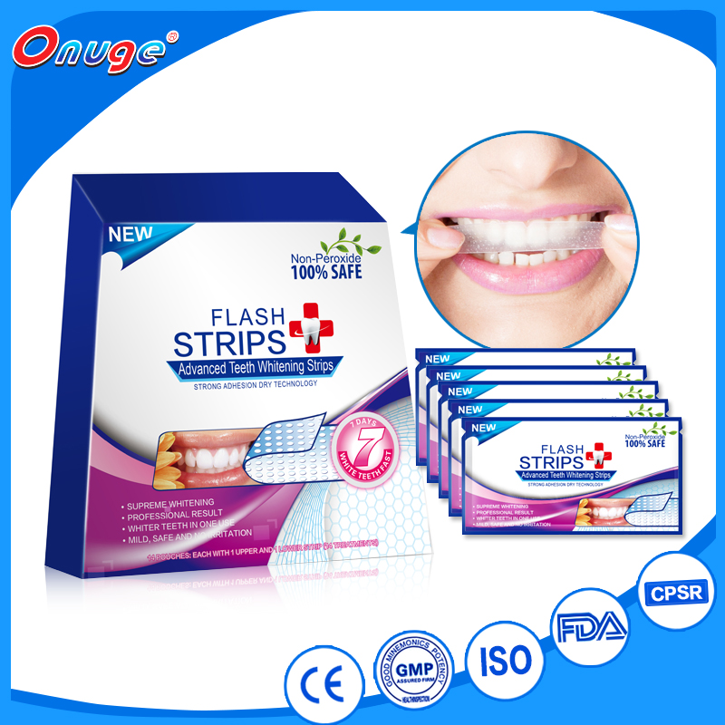 Charmimg onuge teeth whitening strips use at home