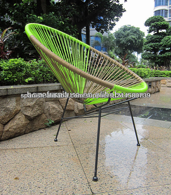 Caliente whoesale restro aire libre muebles de mimbre silla acapulco ...