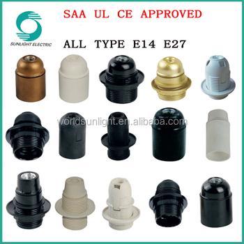 All Types Ce Saa Ul Roved Waterproof E14 E27 Lamp Socket Base Bulb Holders Light Holder