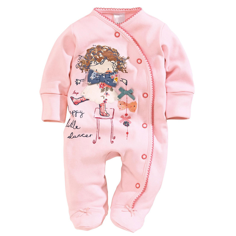 Newborn Baby Girl Clothes Baby Rompers 2016 Spring Brand Baby Costumes Girls Clothes Characters Newborn Baby Girl Rompers 6-24M