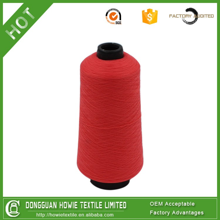 High tension polyester elastic thread