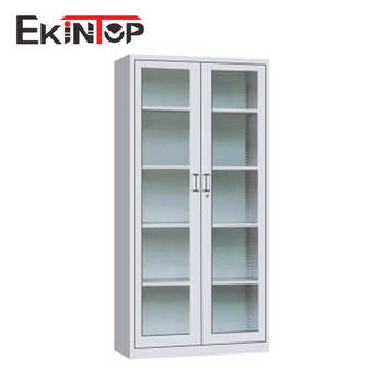 Ekintop salon furniture quilt stereo big lots china book metal storage filing cabinet with glass sliding door