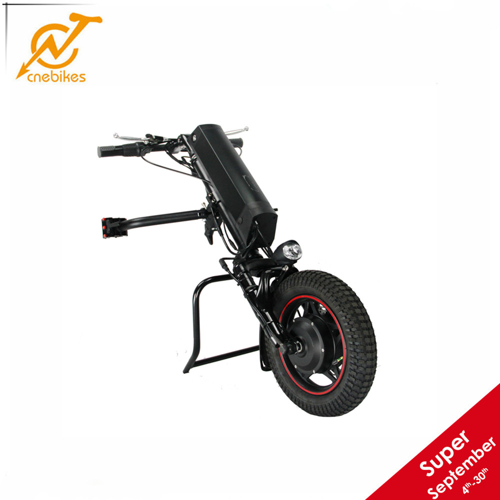 CNEBIKES 36v 350w electric handcycle wheelchair attachment with front suspension 36v 10.4ah