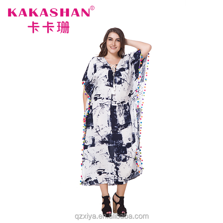 India Bohemian Summer Maxi Plus Size Dress