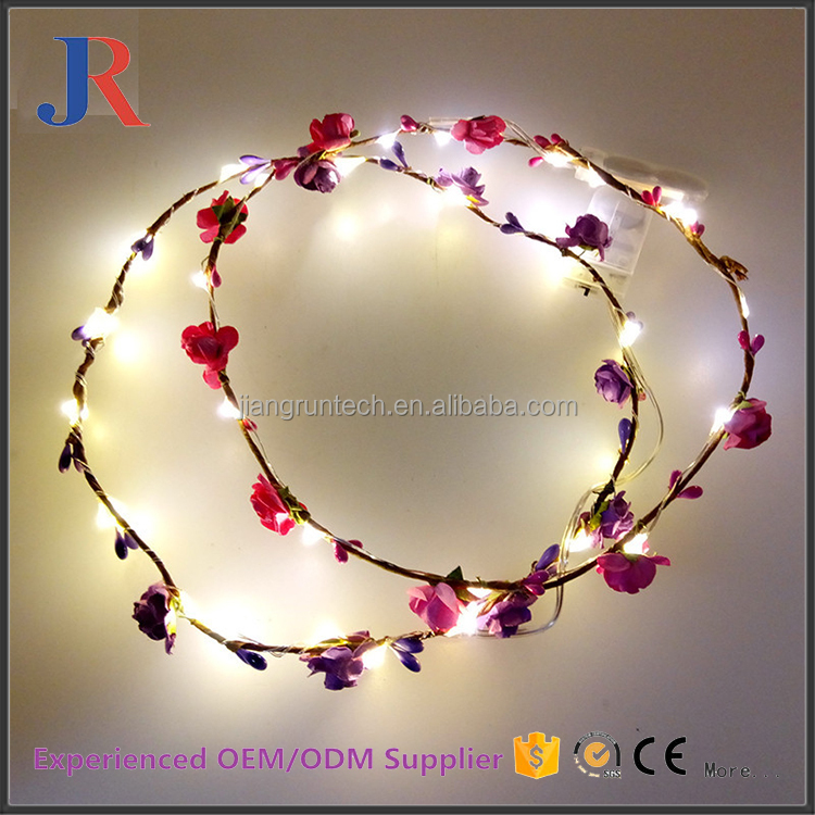 2017 new style promotional decoraticve flower led hawaiian tissue paper garland
