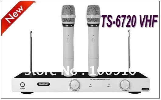 new takstar ts 6720 vhf wireless microphone system professional vhf karaoke engineering. Black Bedroom Furniture Sets. Home Design Ideas