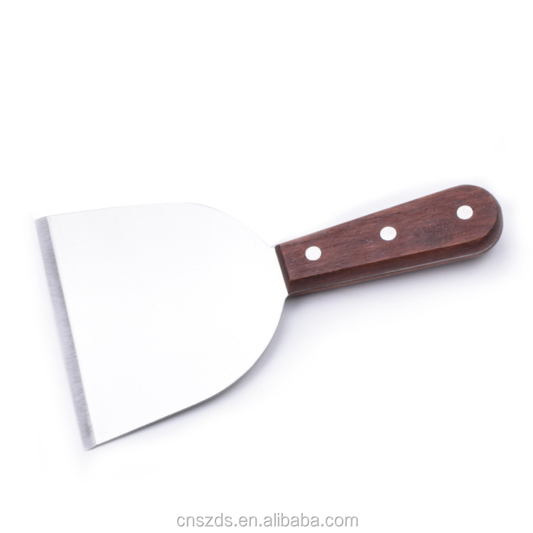 Stainless Steel Elliptical Wooden Handle Of The Spatula Cake ...