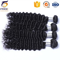 Factory Wholesale 3bundles Indian virgin hair extension deep wave,human remy hair natural black color