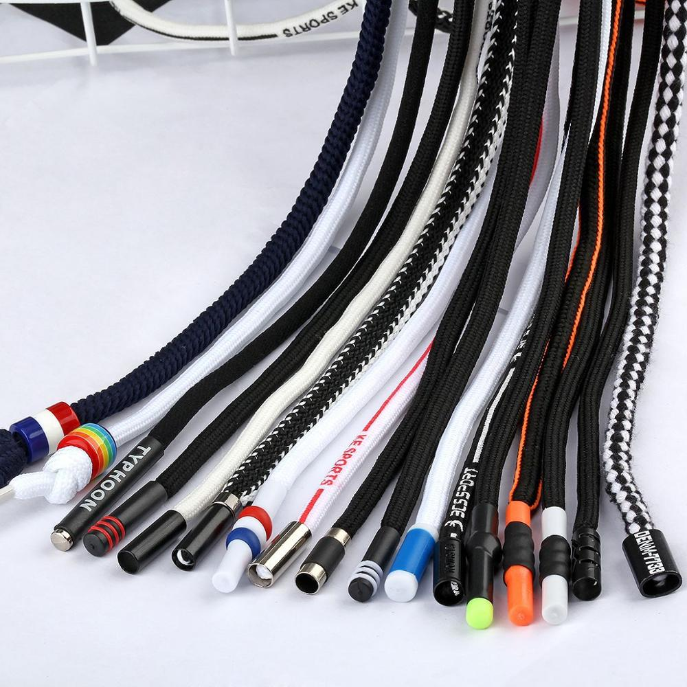 1.3 m pants waist rope 5mm pants rope with Colored metal head 32 ingot round rope