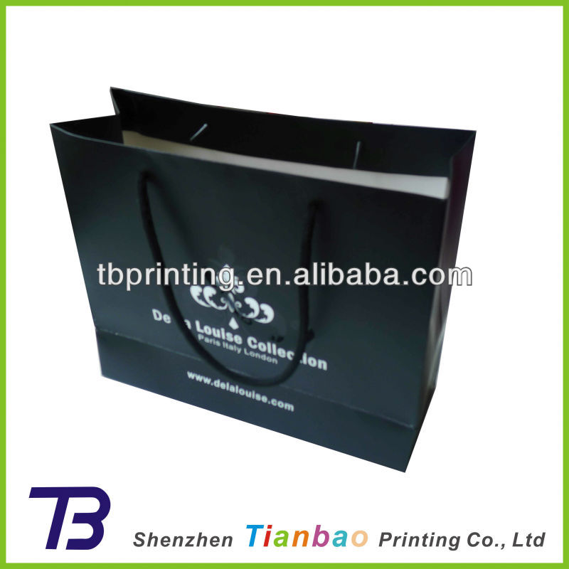 Glossy Black Paper Shopping Bags Wholesale - Buy Glossy Black ...