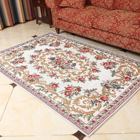 High Quality Used or New Polyester White Floral Patterns Carpet