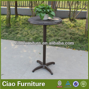 Garden furniture balcony plastic wood bar table
