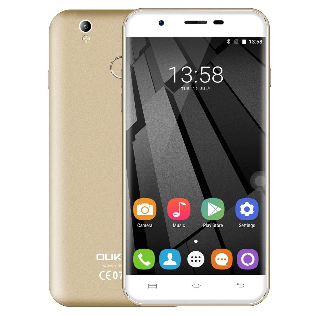 OUKITEL U7 Plus, 2GB+16GB, South American Version, 5.5 inch Android 6.0 MTK6737 Quad Core up to 1.3GHz, Network: 4G, Dual SIM (Gold)
