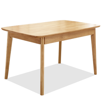 New Series Rubber Wood Dining Table Restaurant Wooden Dinner Table