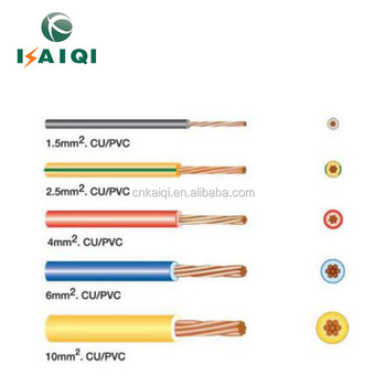 Electrical House Wiring Materials Copper Electrical Wire Size 2.5 Mm on