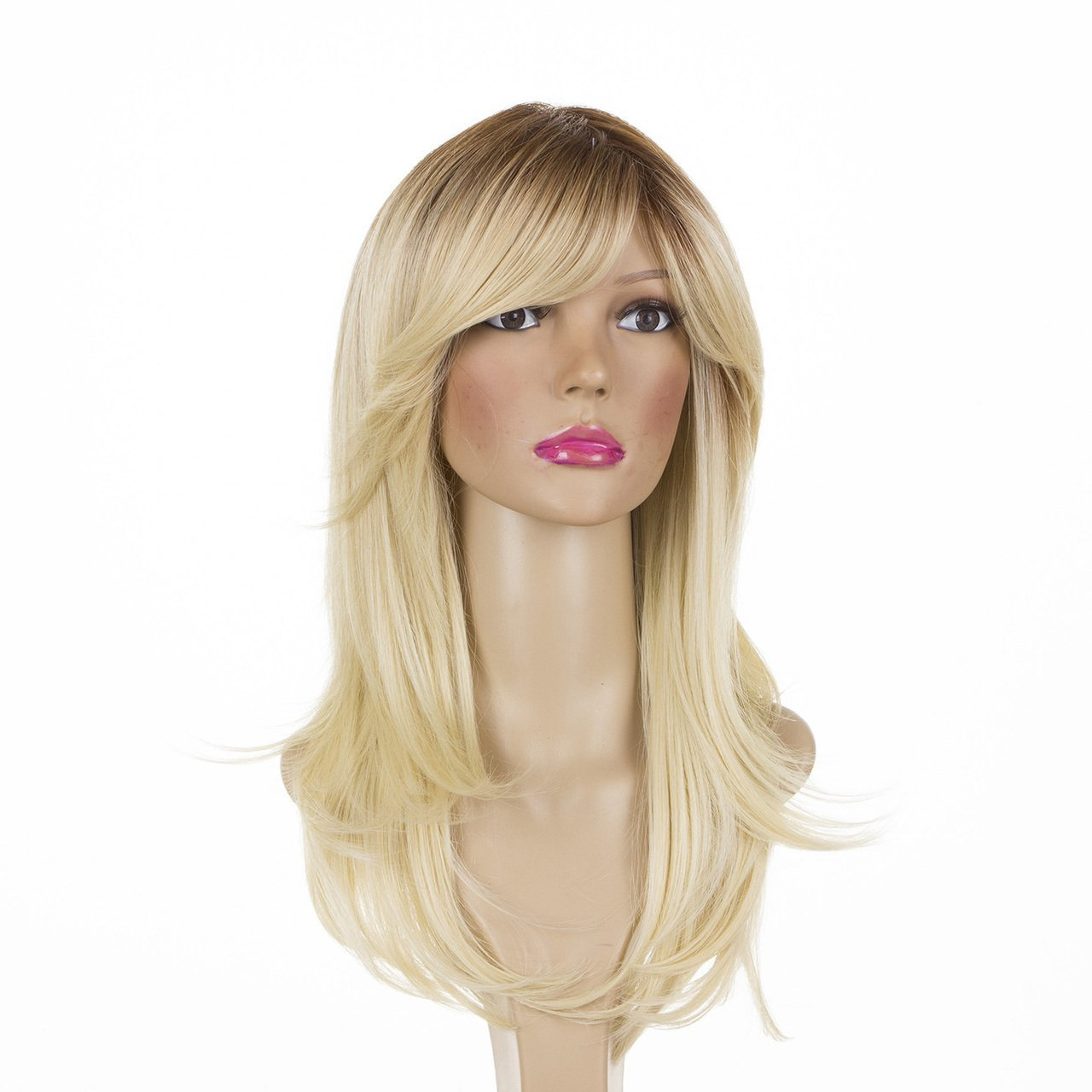 Buy Katherine Long Straight Rooted Light Blonde Layered