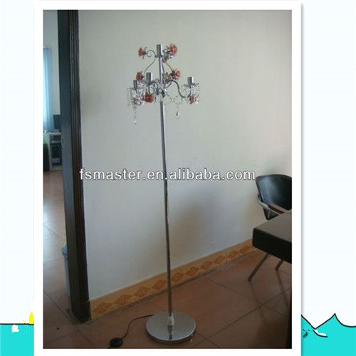 Crystal chandelier modern crystal floor standing light ceramic flower floor lamp
