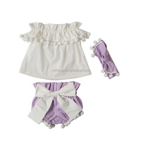 2018 newborn baby clothes wholesale boutique girl spring clothing for toddler