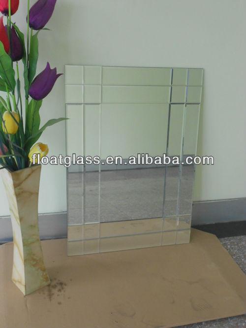 Borde biselado espejo de pared decorativos espejos for Espejo con borde biselado