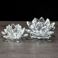MH-H0090 fengshui crystal lotus flower glass lotus flower