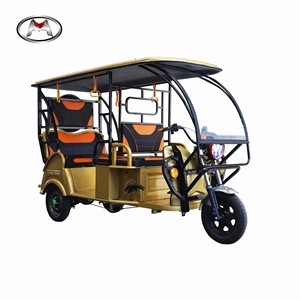 Make In China Taxi Three Wheel Motorcycle Electric Passenger Tricycle With Driver Room -Leo P1