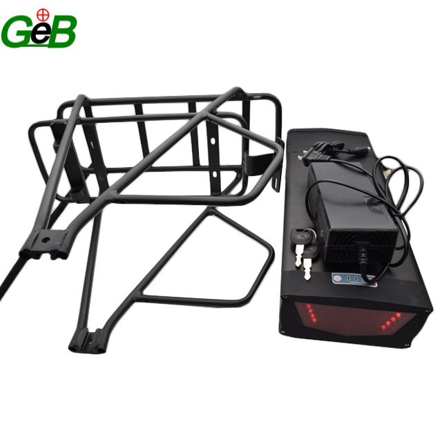 Lithium Ion 48v 20ah rear rack Rechargeable Battery 1000w Scooter ebike Batteries