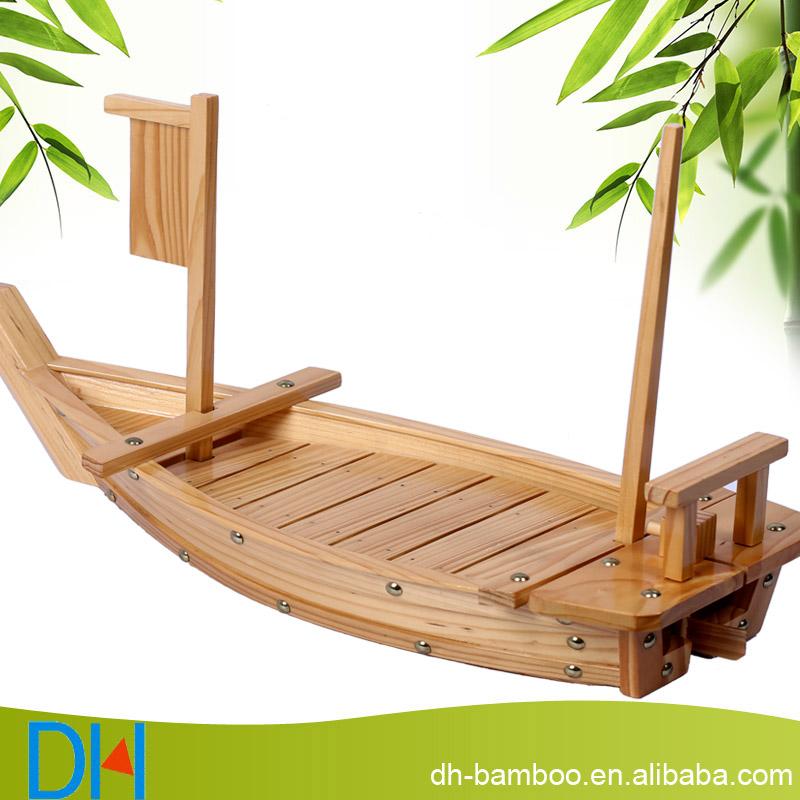 Japonais sushi bateau en bois en bois sushi bateau pour le for Maison container 50000