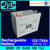 high efficiency 12v 75ah charge car battery