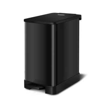 Wholesale Black 6 liter stainless steel pedal household toilet garbage bin