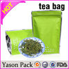 Yason white aluminum foil bag stand up poly bag tea pouch