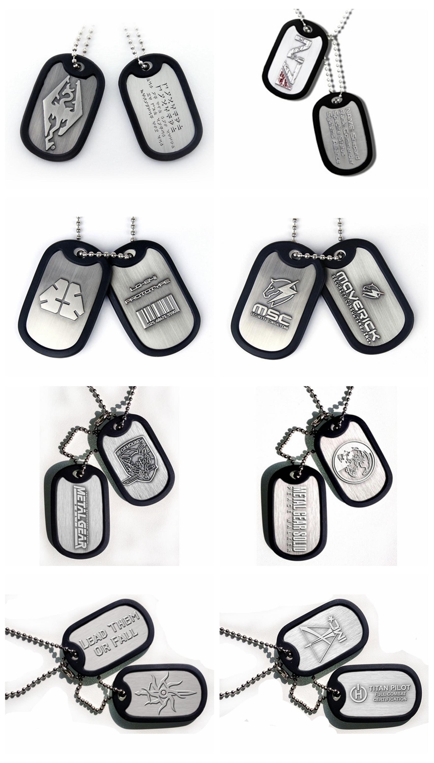 Custom high quality bulk cheap personalized dog  id tags necklace