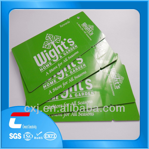 2014 Reward point card/ new plastic traveling tag with clear loop
