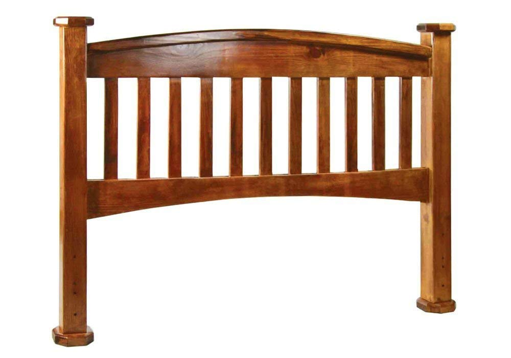 Simple Relax 1PerfectChoice Buffalo Mission Solid Wood Headboard Only Twin Size Rustic Oak