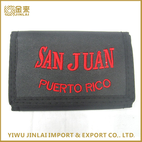 Promotional three fold men nylon sports wallet