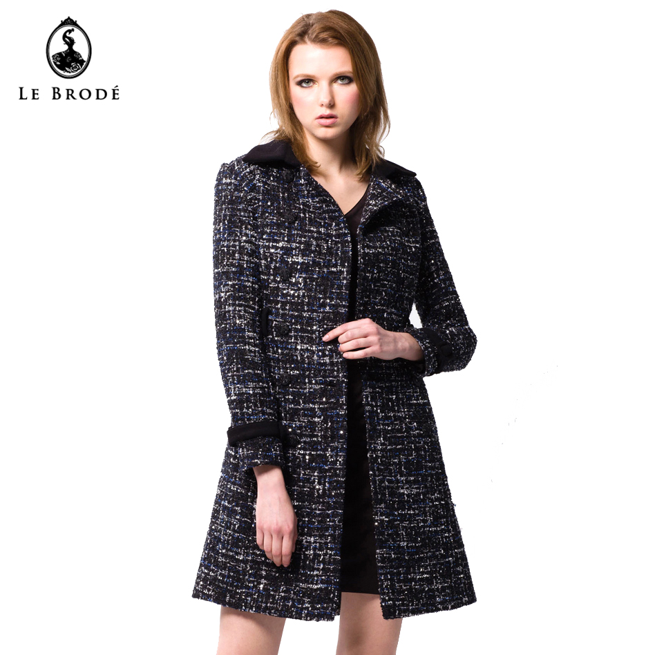 Autumn winter fashion short wrap woolen women coat