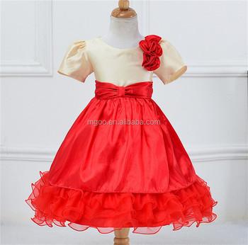 6bdd470a9 MGOO nueva llegada Color rojo trajes de Navidad vestido para niños Niña  musulmana vestido de fiesta