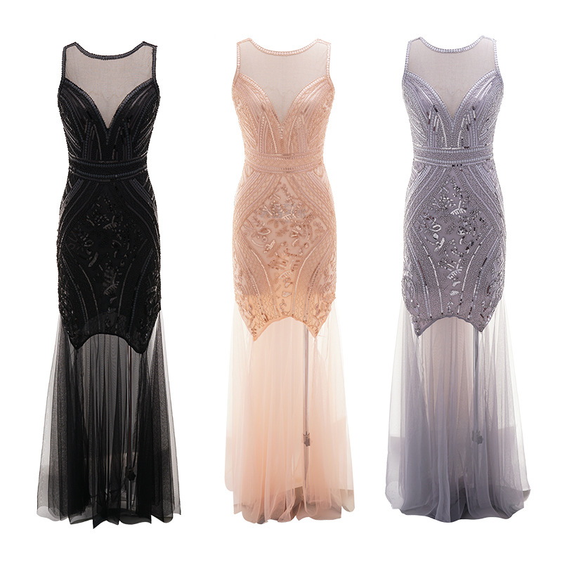 Newest Women's 1920s <strong>Vintage</strong> Sequin Full Fringed Deco <strong>Inspired</strong> Flapper <strong>Dress</strong> Roaring Gatsby <strong>Dress</strong>