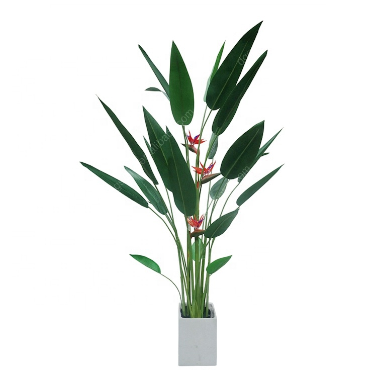 For Spring Decoration Manufacture Hot Sale <strong>House</strong> Potted Bird of Paradise Artificial Potted Plants