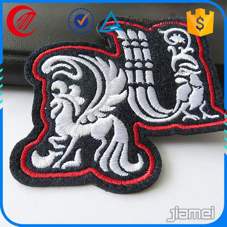 custom applique patch wholesale iron on embroidery patch dragon