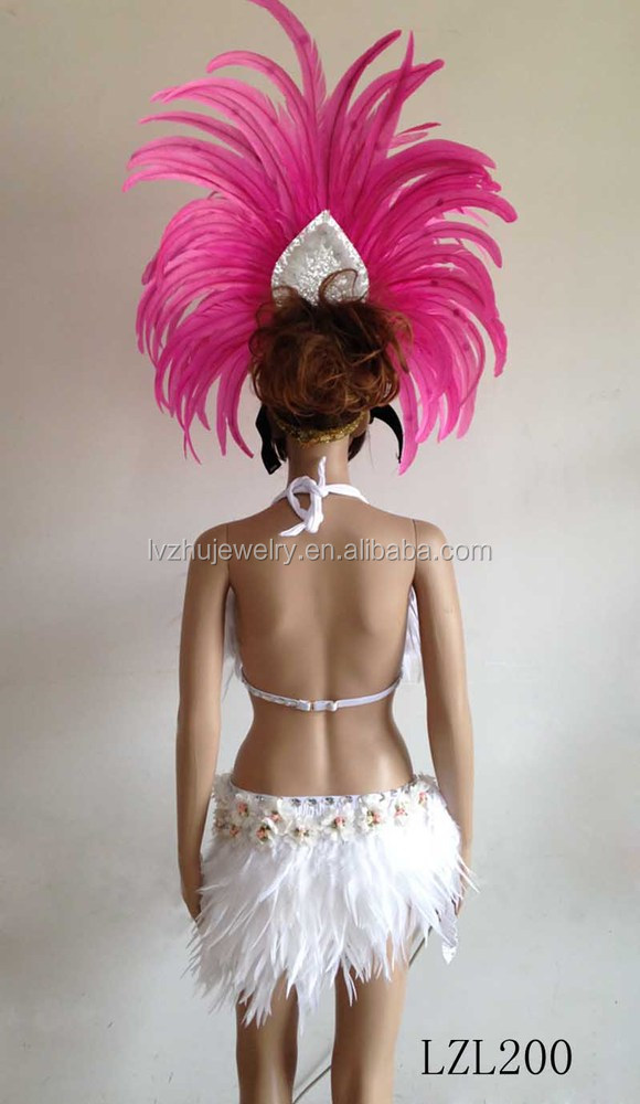Showgirl/Dance Burlesque Feather samba costume LZL200