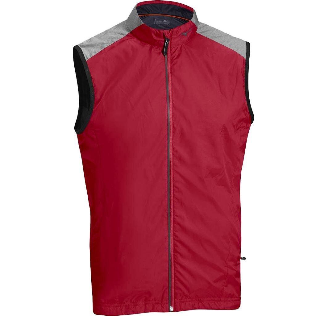 2015 Mizuno Windlite Protection Full Zip Gilet Mens Golf Windproof Vest