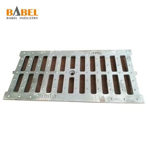 Cast iron channel drain grates