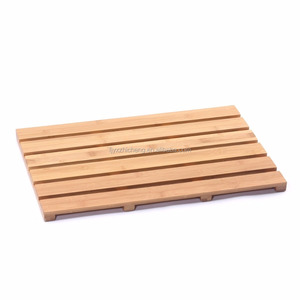 100% Natural Bamboo Floor and Shower Mat High Quality Bamboo Bath Mat Indoor/Outdoor Bathroom Accessories