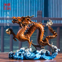 Home decor furnishing china fine artwork customize brass hand made dragon ornament